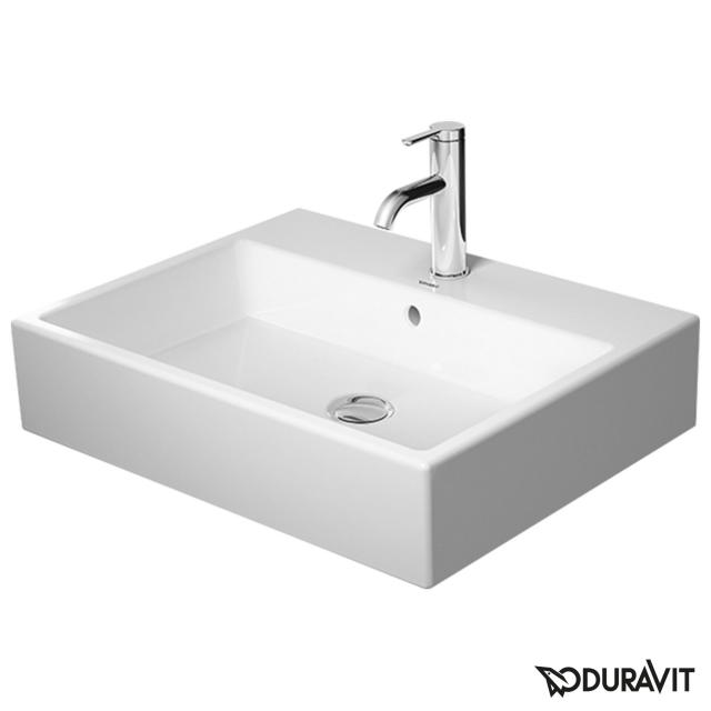 Duravit Vero Air countertop washbasin white, with WonderGliss, with 1 tap hole, with overflow