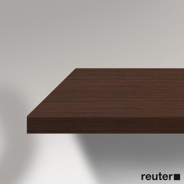 Duravit Vero console without cut-out for counter-top basin brushed walnut
