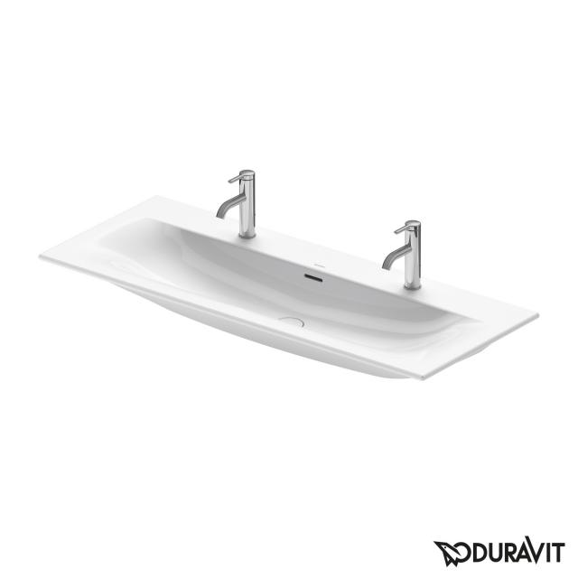 Duravit Viu double vanity washbasin white, with WonderGliss, with 2 tap holes