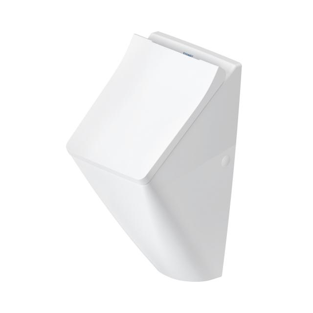 Duravit Viu urinal, rimless, rear supply white, with Wondergliss, with lid mounting