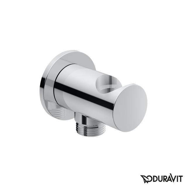 Duravit wall elbow with round escutcheon, with shower bracket chrome