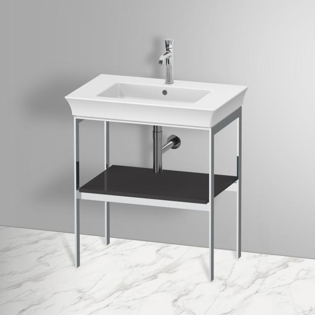 Duravit White Tulip metal stand with shelf graphite high gloss, without towel rail