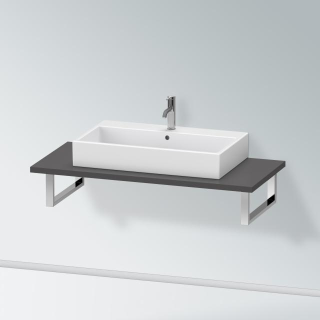 Duravit X-Large console for 1 countertop basin / drop-in basin matt graphite