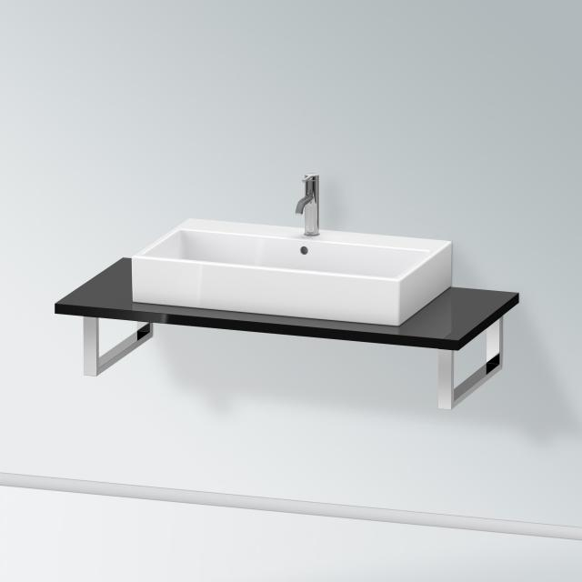 Duravit X-Large console for 1 countertop basin / drop-in basin black high gloss