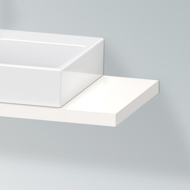 Duravit X-Large console for 1 countertop basin / drop-in basin white high gloss