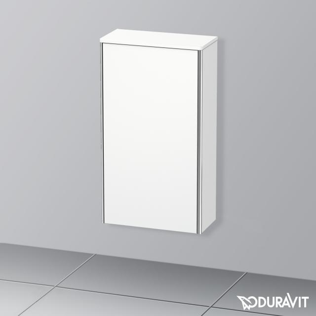 Duravit XSquare medium unit with 1 door front matt white / corpus matt white