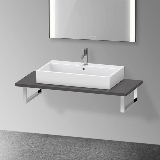 Duravit XViu console for 1 countertop basin / drop-in basin matt graphite