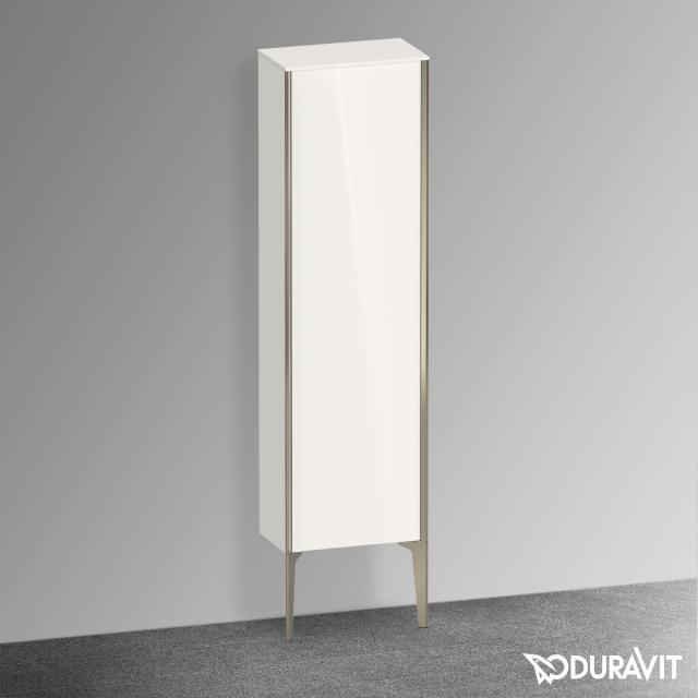 Duravit XViu medium unit with 1 door front white high gloss / corpus white high gloss, profile matt champagne