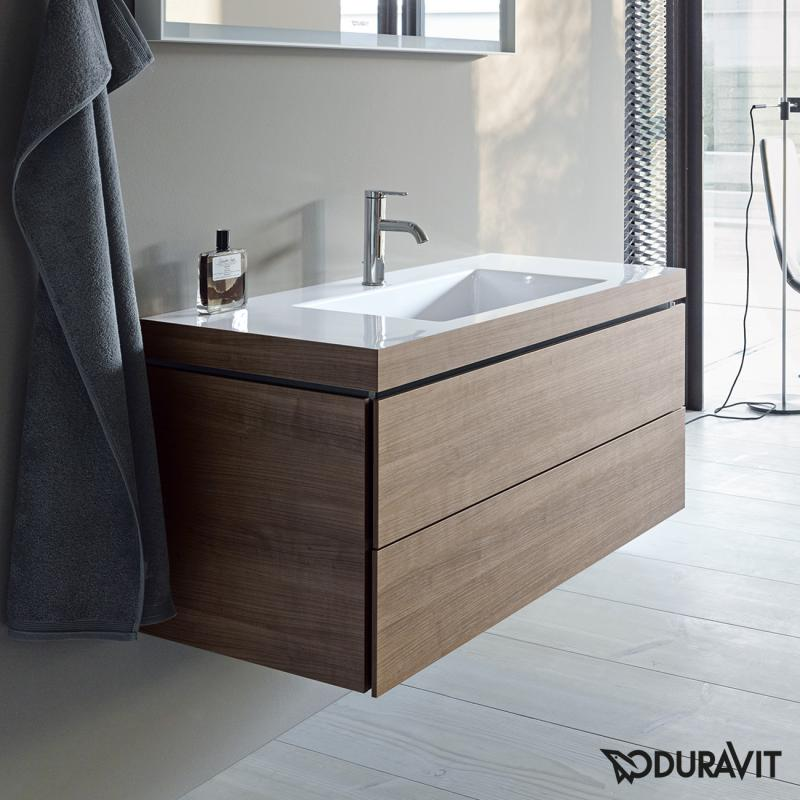 Duravit Vero Air washbasin with L-Cube vanity unit, wall