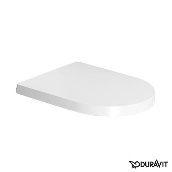 Duravit 0069890000/Abattant de WC avec charni/ères en acier inoxydable Blanc Fermeture douce