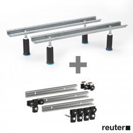 Duscholux bath legs (adjustable from 130-185 mm) incl. set of 3 MEPA support rails