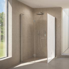 Duscholux Bella Vita 3 bi-fold door for corner entry TSG clear/matt silver