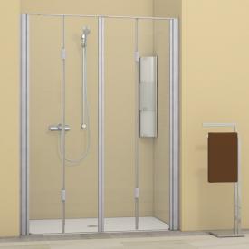Duscholux Bella Vita 3 bi-fold door in recess TSG clear/matt silver