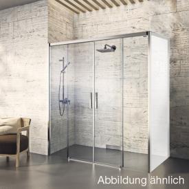 Duscholux Bella Vita 3 sliding door 4-piece for side piece TSG clear with CareTec/platinum silver