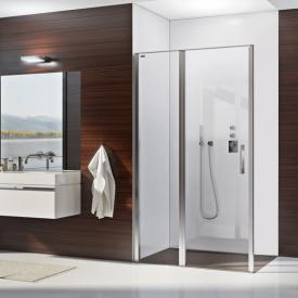 Duscholux Bella Vita 3 swing recess door with fixed panel TSG clear with CareTec/matt silver