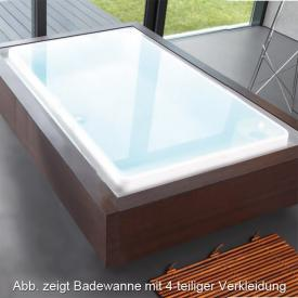 Duscholux Caprivi Free rectangular bath, with overflow channel white
