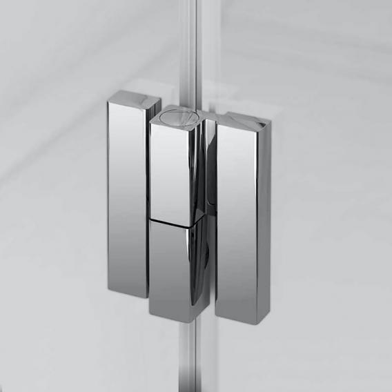 Duscholux Bella Vita 3 bi-fold door for side panel TSG clear with CareTec/platinum silver