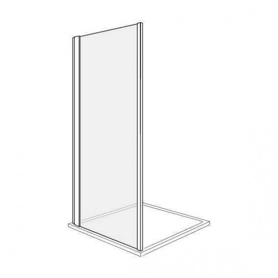 Duscholux Bella Vita 3 side panel TSG clear with CareTec/silver matt