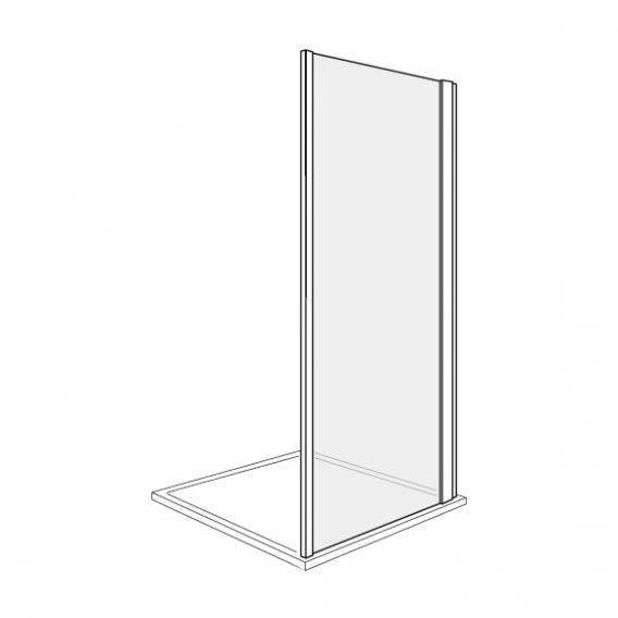 Duscholux Bella Vita 3 side panel TSG clear with CareTec/platinum silver