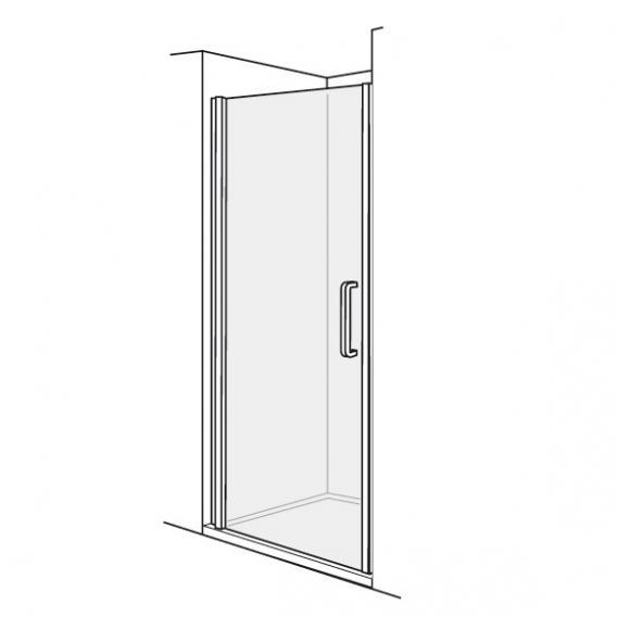 Duscholux Bella Vita 3 swing door in recess TSG clear/silver matt