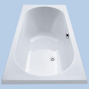 Duscholux Ancona rectangular bath duo shape white