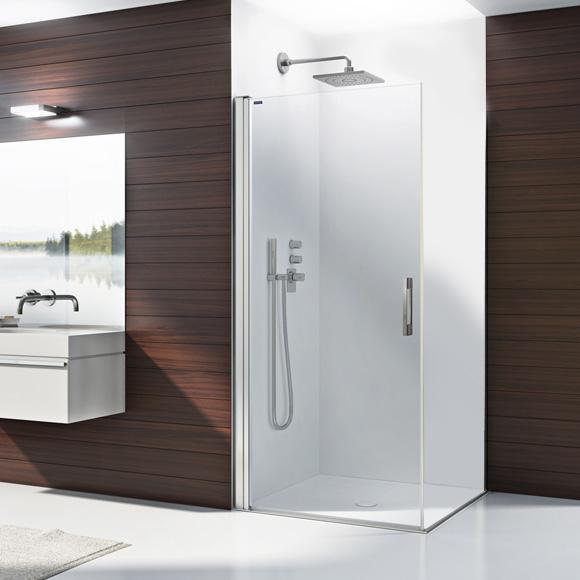 Duscholux Bella Vita 3 swing door for corner entry TSG clear with CareTec/matt silver