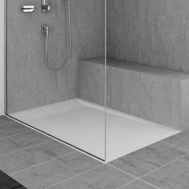 Duscholux Fjord shower tray L: 90 W: 90 cm white