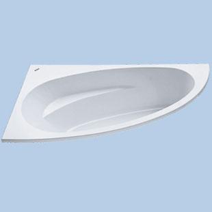 Duscholux Malaga corner bath asymmetrically white