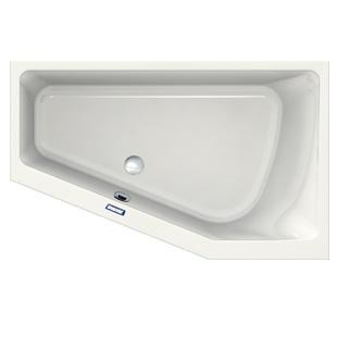 Duscholux Prime-Line corner bath white