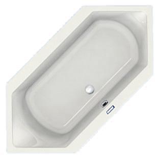 Duscholux Prime-Line hexagonal bath white