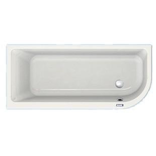 Duscholux Prime-Line soft-corner 1 corner bath white