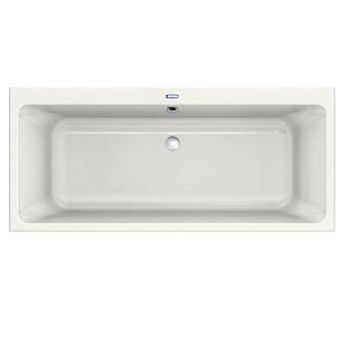 Duscholux Prime-Line rectangular bath duo shape white