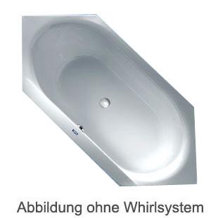Duscholux SMART-line 32 hexagonal whirlbath with floor inlet