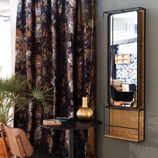 Dutchbone Langres wall-mounted mirror with shelf