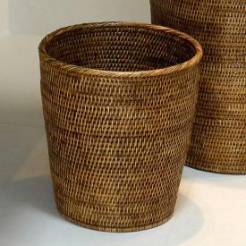 Decor Walther BASKET PK waste paper basket rattan dark