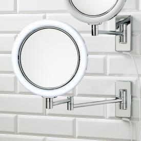 Decor Walther BS 13/V illuminated, wall-mounted beauty mirror, 2 swivel arms