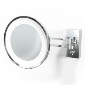 Decor Walther BS 36/V LED wall-mounted beauty mirror, 5x magnification chrome