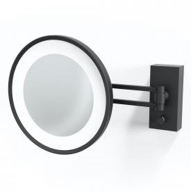 Decor Walther BS 36/V LED wall-mounted beauty mirror, 5x magnification matt black