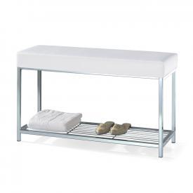 Decor Walther DW 67 bench with shelf chrome/white