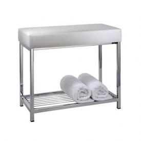 Decor Walther DW 77 bench with shelf chrome/white