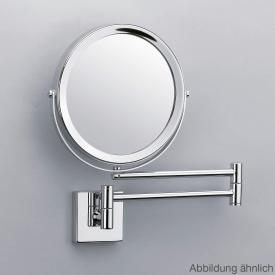 Decor Walther SP 28/2 wall-mounted beauty mirror, 5x magnification satin nickel