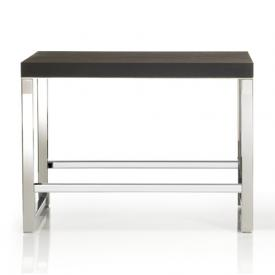 Decor Walther WO SOB / WO SOE bench polished stainless steel/dark thermo ash