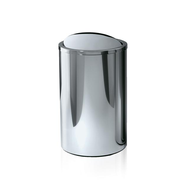 Decor Walther DW 124 waste bin with swing lid polished stainless steel
