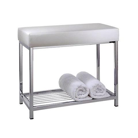 Decor Walther DW 77 bench with shelf chrome/white