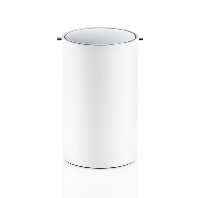 Decor Walther STONE BEMD bathroom bin with swing lid white/chrome
