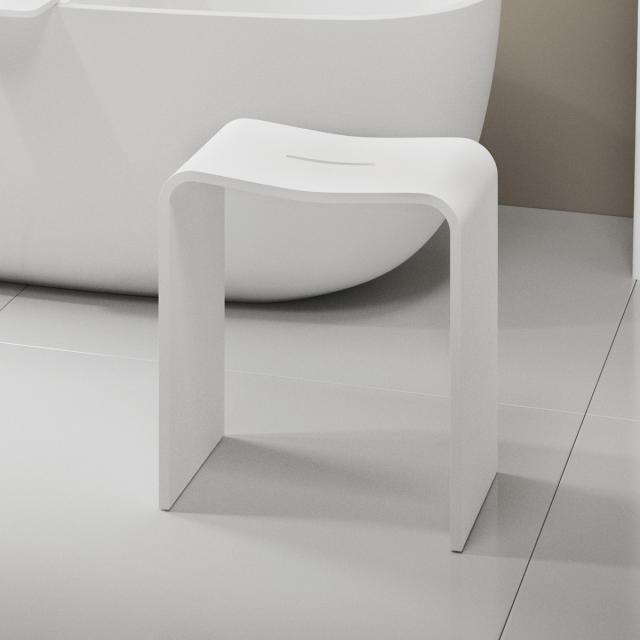 Decor Walther STONE STOOL shower stool white