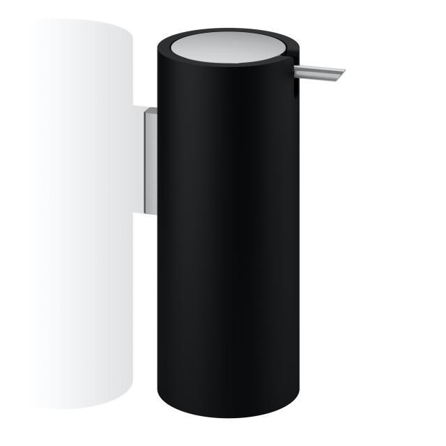 Decor Walther STONE WSP soap and disinfectant dispenser matt black/matt stainless steel