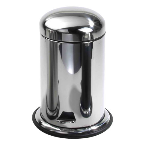 Decor Walther pedal bin polished stainless steel