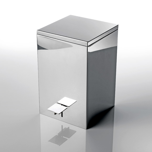Decor Walther TE 70 softclose pedal bin polished stainless steel