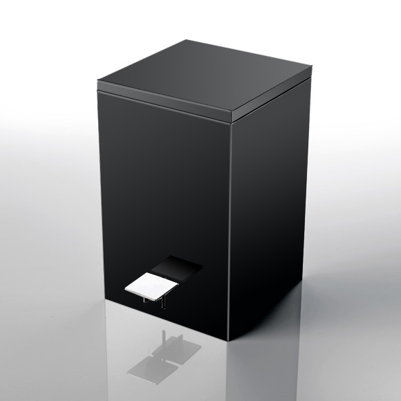 Decor Walther Square pedal bin made of stainless steel Te 70/Soft Close from polished stainless steel